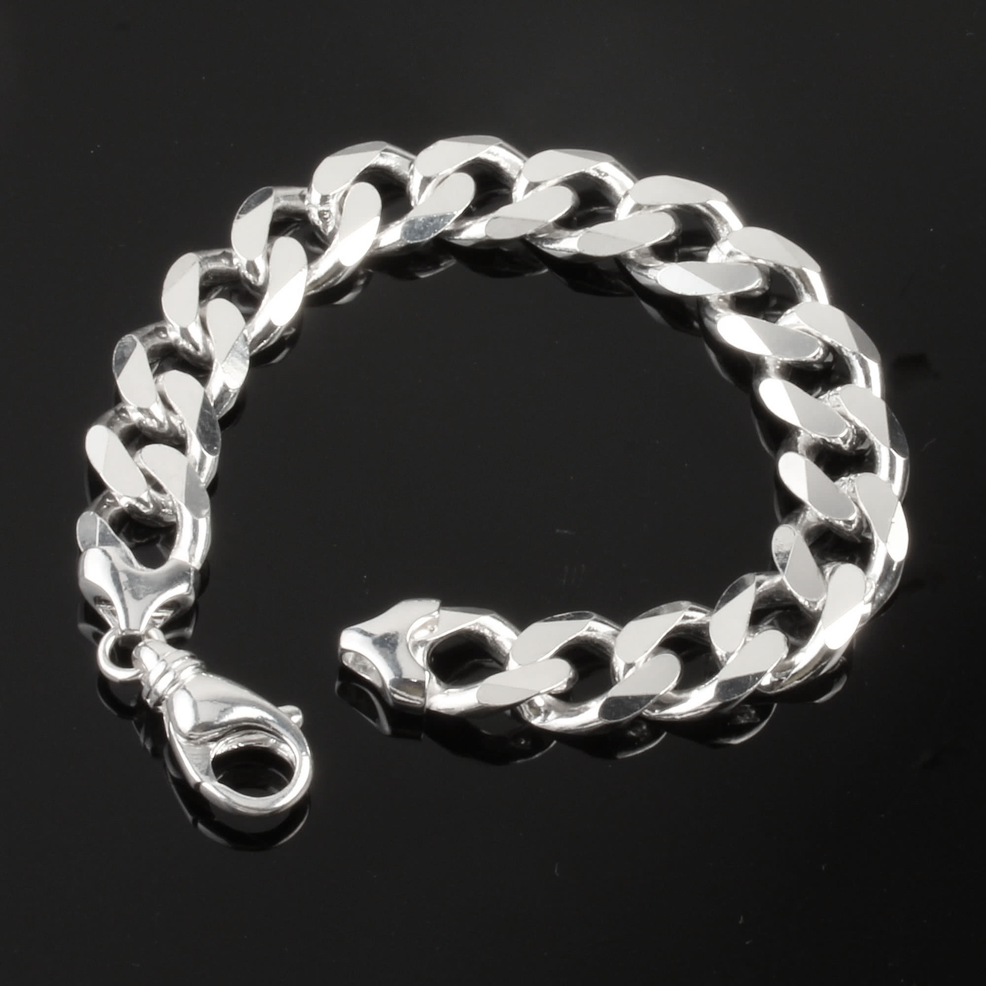 silver heavy wire mens duty barb bracelet