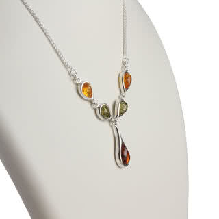 Lemon, Green and Honey Baltic Amber Necklace