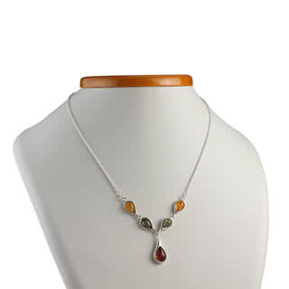 Multicoloured Baltic Amber Necklace